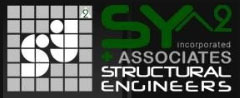 An image of the logo of one of HTLand's consultants, SY^2 Inc. Associates Structural Engineers.